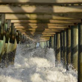 pier 2  by MIrella Napolitano - Nature Up Close Water ( vertical lines, pwc )