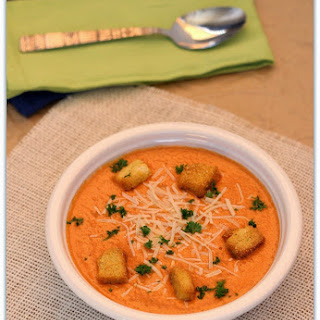 Blender Roasted Red Pepper Soup (with video)
