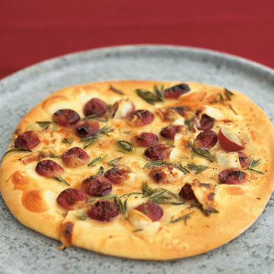 Red Grape Pizza With Honey, Rosemary & Pecorino