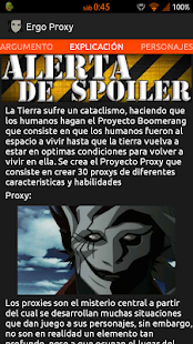 Ergo Proxy - Información - screenshot