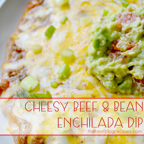 Cheesy Beef & Bean Enchilada Dip