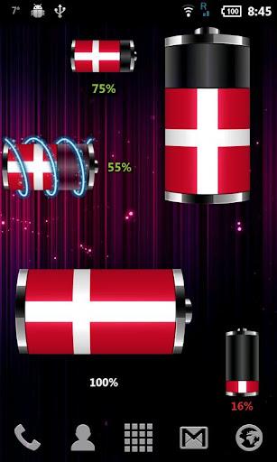 丹麥 - 旗電池部件
