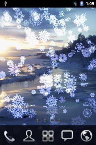 下雪雪花壁紙