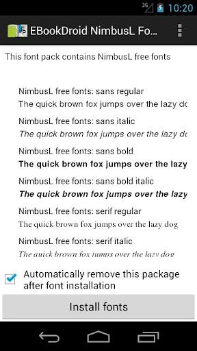 EBookDroid NimbusL FontPack