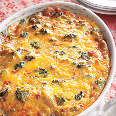 Vegetable-Cheddar Strata