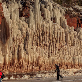 Ice by William Boyea - Landscapes Caves & Formations ( wisconsin, winter, cold, ice, island, formation )