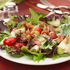 Grilled Fennel, Tomato and Baby Greens Salad with Bacon