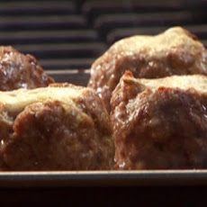 Gorgonzola Filled Meatballs, Bay and Onion Creamy Tomato Gravy