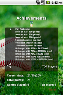 Trivia for MLB - screenshot