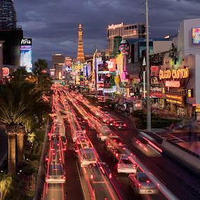 by Eric Yiskis - City,  Street & Park  Night ( las vegas, night lighttrails, time lapse,  )