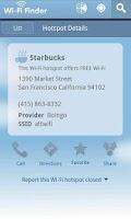 Screenshot of WiFi Finder