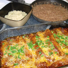 Sirlion and Poblano Enchiladas Al Carbon