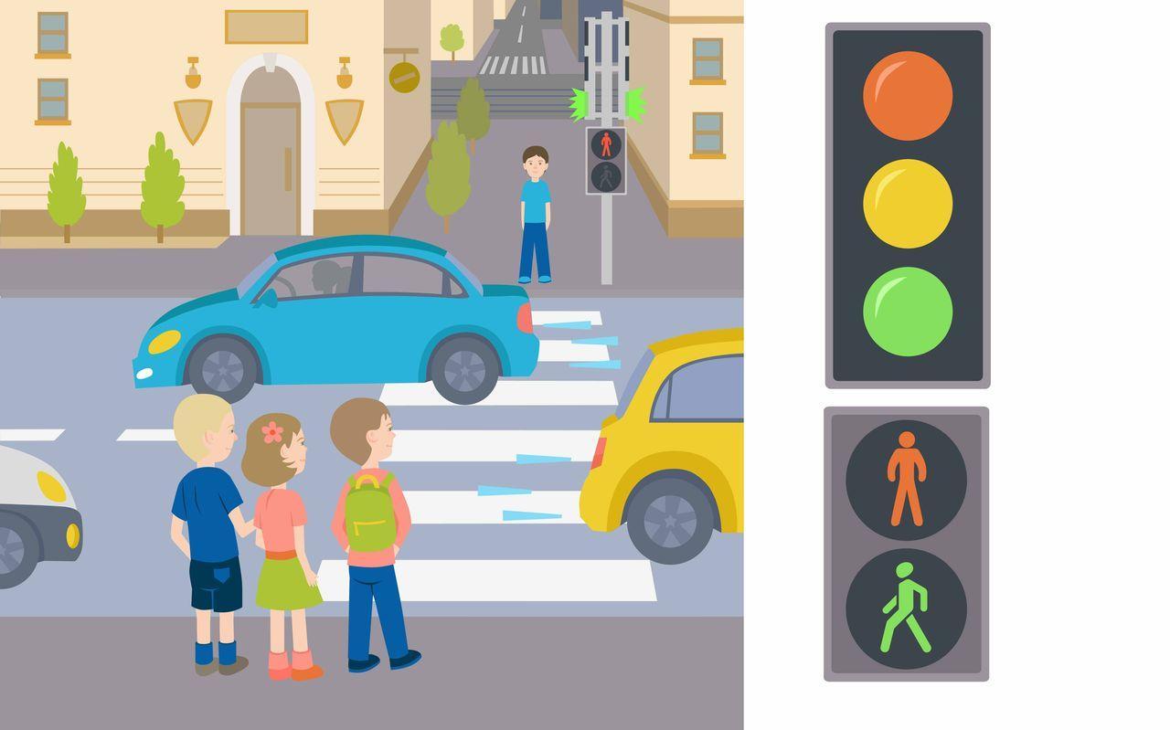 пешеходный переход красный свет  № 1504890 без смс