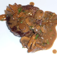 Succulent Ribeye Steak with Mushroom Marsala Sauce