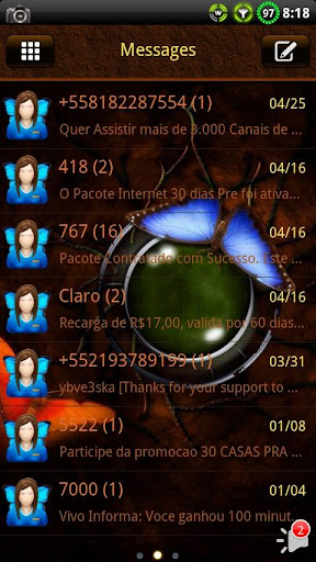 Butterfly GO SMS Theme