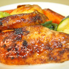 Whole Sticky Glazed Chicken