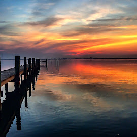Color my World by Etta Cox - Instagram & Mobile iPhone ( sunrise reflection water )