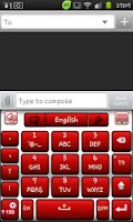 Screenshot of Go Keyboard Red and White