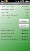 Screenshot of Retirement Planner