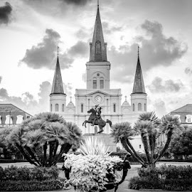 St. Louis Cathedral in Jackson Square by Brian Baker - City,  Street & Park  Historic Districts