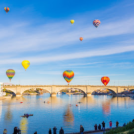 Lake Havasu Balloon Festival 2014 by Angel McNall - News & Events Entertainment ( balloon festival, london bridge, ballooning, lake havasu, festival, hot air balloons, arizona 2014 )