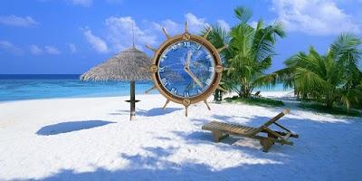 Screenshot of My Beach Clock Live Wallpaper