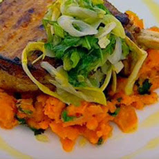 Spiced Pork Chops With Crushed Sweet Potatoes