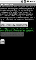 Screenshot of Carrier IQ Process Killer