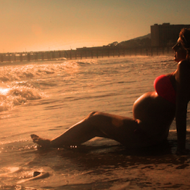 Beach Bump by Libby Swenson - People Maternity ( water, maternity, sunset, pregnancy, beach )