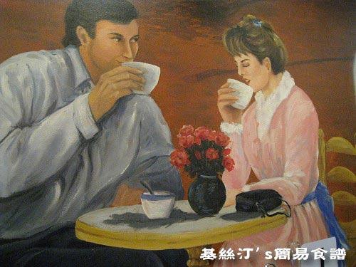 餐廳壁畫 Restaurant's picture