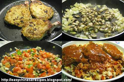 Baked Pork Chops with Rice Procedures焗豬扒飯製作圖