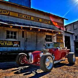Rics T by Joe Shortridge - Transportation Automobiles ( car, open, rod, red, t, hdr, wheel, street, bucket, ford, race )