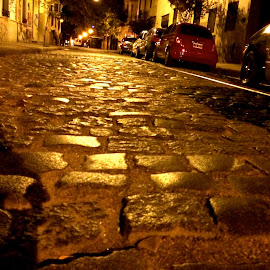 Late night in Buenos Aires by Tyrell Heaton - Instagram & Mobile iPhone ( argentina, san telmo, street, neighborhood, buenos aires, cobblestone )