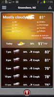 Screenshot of FOX 8 Weather Center
