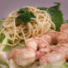 Taylor's Shrimp with Spaghetti in Garlic-Butter Sauce