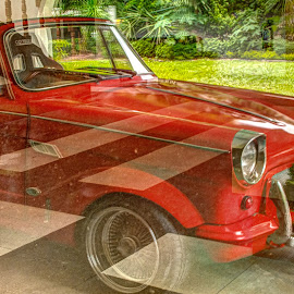 Red Wedding Car by Victor Roman - Transportation Automobiles ( reflection, hdr, wedding, d300, nikon,  )