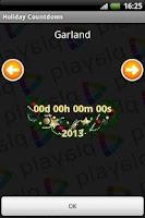 Screenshot of Holiday Countdown (Widget)