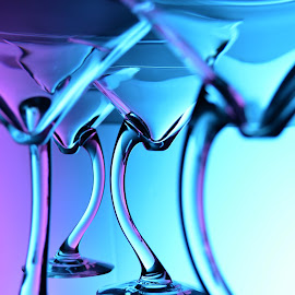 Floating Glass by Tj Barney - Artistic Objects Glass ( compostition, wine, purple, blue, martini, glass, floating, stem, photo, photography )