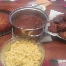 Carol's Kitchen Table - Salmon Patties, Pinto Beans, and Cheesy Cornbread