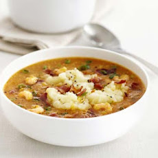 Prawn Chowder With Mashed Potato