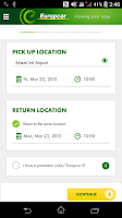 Screenshot of Europcar – Car Rental App