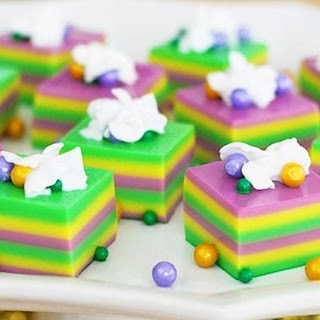 Mardi Gras Jelly Shots