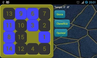 Screenshot of 15 Puzzle Game (by Dalmax)