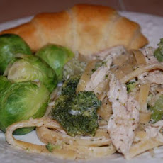 Chicken Fettuccine With Herb Cheese