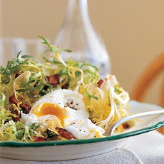 Frisee with Lardons and Poached Eggs