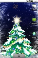 Screenshot of Winter Snowfall Full Wallpaper