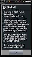 Screenshot of VFinder for SmartWatch