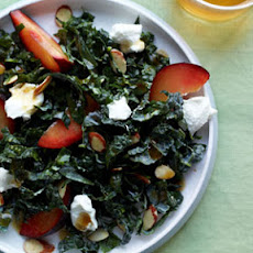 Tuscan Kale with Almonds, Plums, and Goat Cheese
