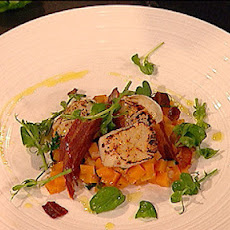 Seared Scallops With Star Anise, Pumpkin And Crispy Bacon