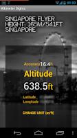 Screenshot of Altimeter Sights/GPS Altitude